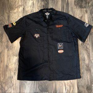 Harley Davidson Mens 2XL Button Down Shirt Black